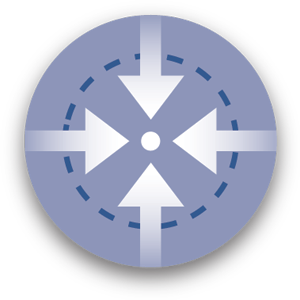 Graphic icon of target location representing utility locates and services.